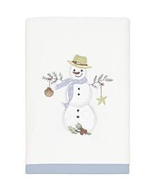 Coastal Snowman Hand Towel