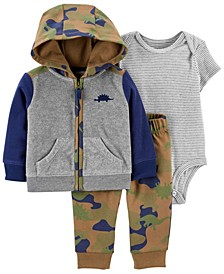 Baby Boy  3-Piece Dinosaur Little Jacket Set