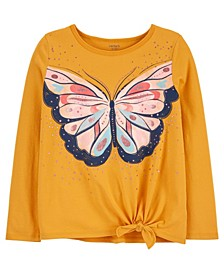 Big Girl Butterfly Tie-Front Jersey Tee