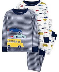 Toddler Boy 4-Piece 100% Snug Fit Cotton PJs