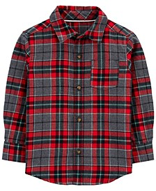 Toddler Boy Plaid Twill Button-Front Shirt