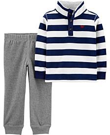 Toddler Boy 2-Piece Fleece Pullover & Jogger Set