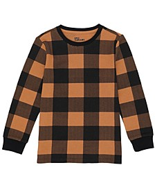 Toddler Boys Long Sleeve All Over Checkered Print Thermal