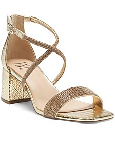 INC Women's Nerissa Block-Heel Multi-Band Evening Sandals, Created for Macy's