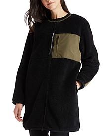 Colorblocked Long Fleece Jacket
