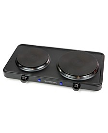 HCDB15BK Double Burner Hot Plate