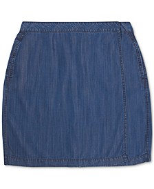 Denim Wrap-Style Mini Skirt, Created for Macy's