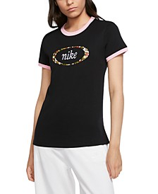 Women's Sportswear Cotton Logo Ringer T-Shirt