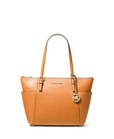 Jet Set Large Crossgrain Leather Tote