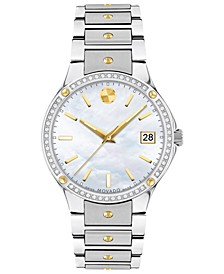 Women's Swiss Sports Edition Diamond (1/5 ct. t.w.) Gold-Tone PVD & Stainless Steel Bracelet Watch 32mm