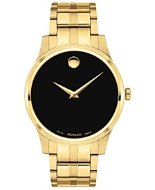 Men's Swiss Gold PVD Stainless Steel Bracelet Watch 40mm