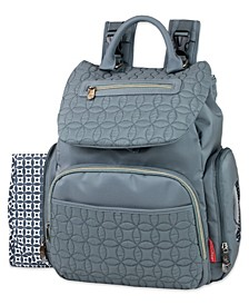 Signature Quilt Flap Backpack