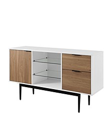"""52"""" Modern 2 Drawer Lifted Sideboard"""