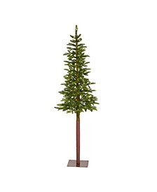 Alaskan Alpine Artificial Christmas Tree with 100 Clear Microdot Multifunction LED Lights and 112 Bendable Branches