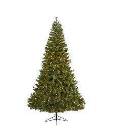 Mount Hood Spruce Artificial Christmas Tree with 450 Warm Lights and 1285 Bendable Branches