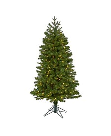 Vancouver Spruce Artificial Christmas Tree with 200 Warm Lights and 461 Bendable Branches