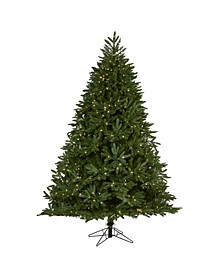 Oregon Spruce Artificial Christmas Tree with 850 Warm Multifunction Microdot LED Lights with Instant Connect Technology and 1796 Bendable Branches