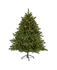 Wyoming Mixed Pine Artificial Christmas Tree with 450 Clear Lights and 1090 Bendable Branches