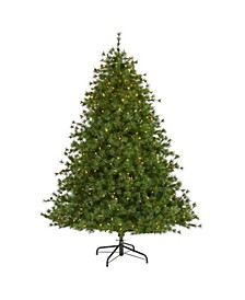 Colorado Mountain Pine Artificial Christmas Tree with 450 Clear Lights, 1453 Bendable Branches and Pine Cones