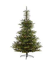 7.5ft. Layered Washington Spruce Artificial Christmas Tree with 550 Clear LED Lights and 1325 Bendable Branches