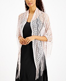 INC Knit Fringe Triangle Shawl, Created for Macy's