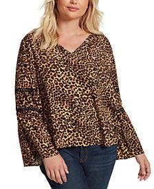 Jessica Simpson Trendy Plus Size Scarletti Bell-Sleeve Top