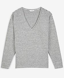 Striped V-Neck Top
