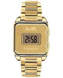 COACH Women's Darcy Digital Gold-Tone Bracelet Watch 37x30mm
