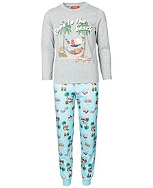 Matching Kids Tropical Santa Family Pajama Set, Created for Macy's
