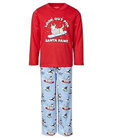 Matching Kids Santa Paws Family Pajama Set, Created for Macy's
