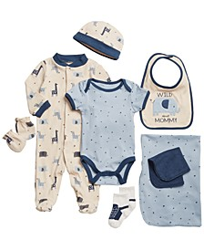 Baby Boy 9pc Set Safari Bundled Set