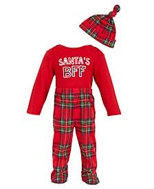 Chick Pea Baby Boy 3pc. Santa's BFF Pants Set
