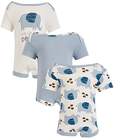 Chick Pea Baby Boy 3-Pack Short Sleeve Bodysuits - Follow Your Dream