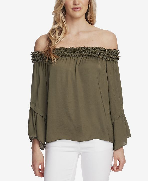 Vince Camuto Women's Bell Sleeve Off Shoulder Blouse
