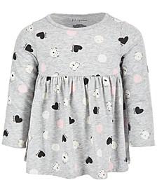 Toddler Girls Long Sleeve Animal Dot Tunic, Created for Macy's