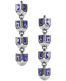 INC Silver-Tone Dreidel Linear Drop Earrings, Created for Macy's