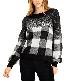 Buffalo Check Pullover Sweater, Created for Macy's
