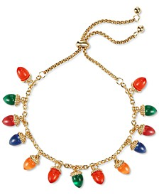 INC Gold-Tone Multicolor Lightbulb Slider Bracelet, Created for Macy's