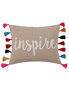 """Amisha Inspire Tassel Pillow, 14"""" x 18"""""""