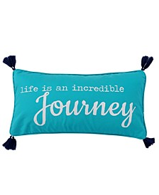 "Chandra Journey Tassel Pillow, 12"" x 24"""