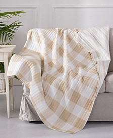 Camden Buffalo Check Reversible Quilted Throw