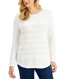 Long-Sleeve Cable-Knit Sweater, Created for Macy's
