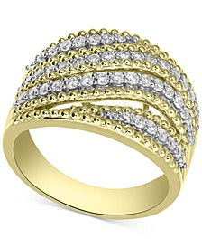 Diamond Swirl Statement Ring (3/4 ct. t.w.) in 14k Gold