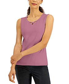 Cotton Sweetheart Keyhole Tank Top, Created for Macy's