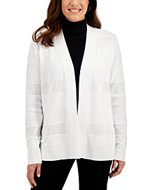 Karen Scott Pointelle Cardigan Sweater, Created for Macy's