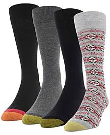 Men's 4-Pack Christmas Fairisle Socks