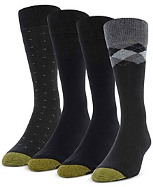 Men's 4-Pack Clock Argyle Special Socks