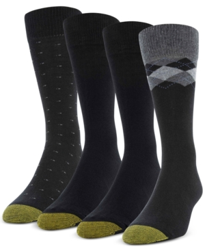 Men's 4-Pack Clock Argyle Special Socks
