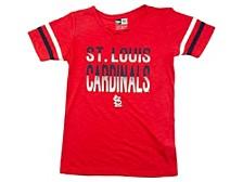 St. Louis Cardinals Youth Girls Glitter Tie Up T-Shirt