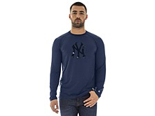 New York Yankees Men's Silitone Long Sleeve Raglan T-Shirt